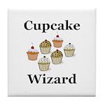 Cupcake Wizard Tile Coaster