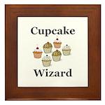 Cupcake Wizard Framed Tile