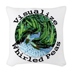 Visualize Whirled Peas Woven Throw Pillow