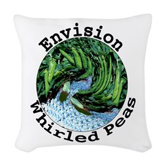 Envision Whirled Peas Woven Throw Pillow