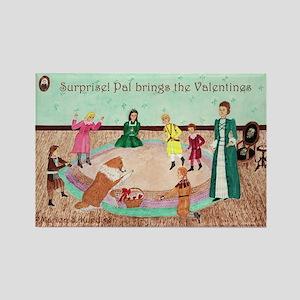 Izzie Valentine Party Rectangle Magnet
