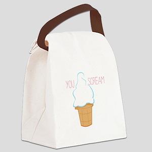 You Scream Canvas Lunch Bag