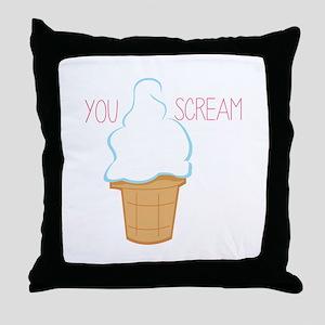 You Scream Throw Pillow