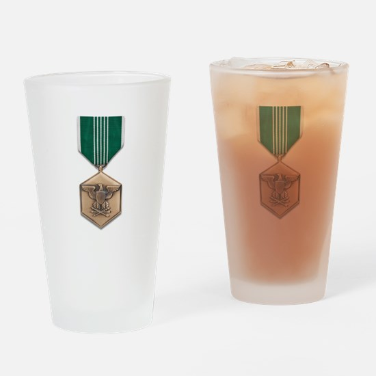 Army Commendation Drinking Glass
