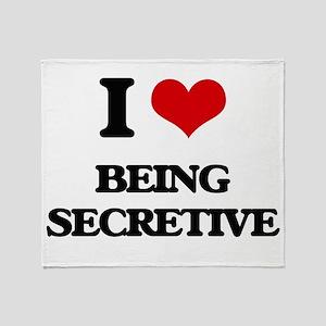 I Love Being Secretive Throw Blanket