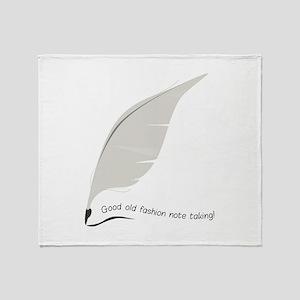 Note Taking Throw Blanket