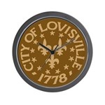 Louisville clock (brown)