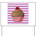 Pink and Teal Cupcake Yard Sign