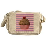 Pink and Teal Cupcake Messenger Bag
