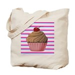 Pink and Teal Cupcake Tote Bag
