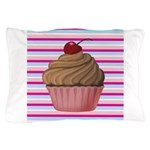 Pink and Teal Cupcake Pillow Case