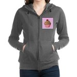 Pink and Teal Cupcake Women's Zip Hoodie
