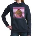 Pink and Teal Cupcake Women's Hooded Sweatshirt
