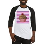Pink and Teal Cupcake Baseball Jersey