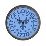 Louisville clock (blue)