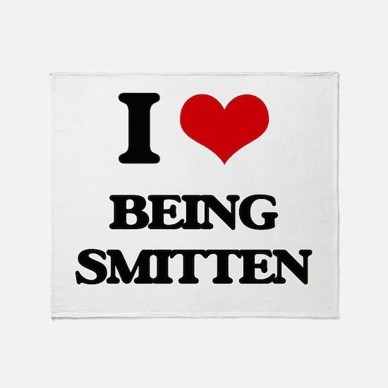 I love Being Smitten Throw Blanket