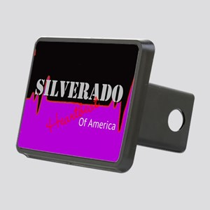 Silverado Heartbeat Rectangular Hitch Cover
