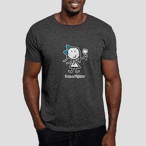 Teal & White - Fighter Dark T-Shirt