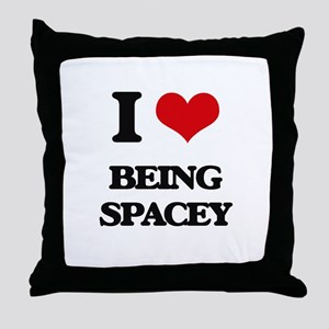 I love Being Spacey Throw Pillow
