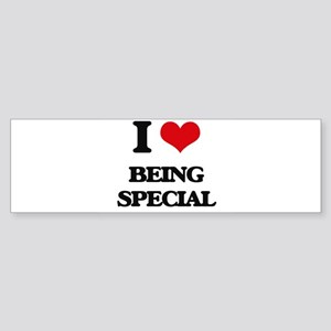 I love Being Special Bumper Sticker