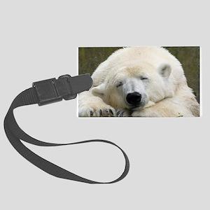 Polar bear 003 Large Luggage Tag