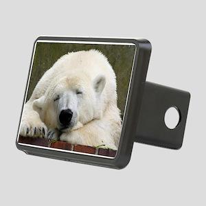 Polar bear 003 Rectangular Hitch Cover