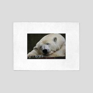 Polar bear 011 5'x7'Area Rug