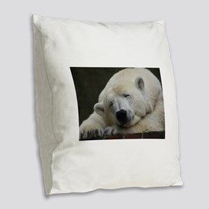 Polar bear 011 Burlap Throw Pillow