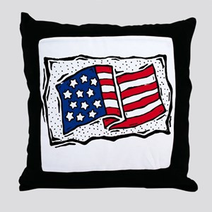 Country american flag Throw Pillow