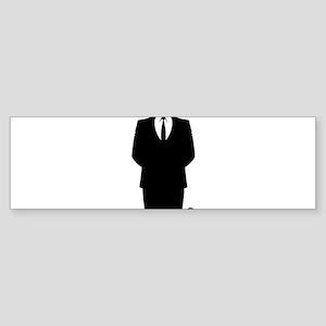 Anon Suit Bumper Sticker