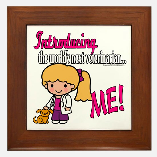 Future Veterinarian Framed Tile
