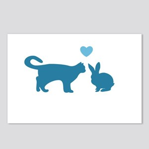 Cat Meets Bunny Postcards (Package of 8)