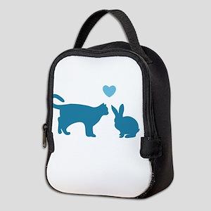 Cat Meets Bunny Neoprene Lunch Bag