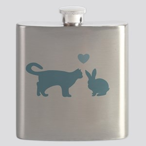 Cat Meets Bunny Flask