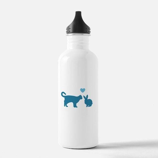 Cat Meets Bunny Water Bottle