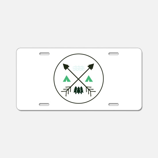 Camping Patch Aluminum License Plate