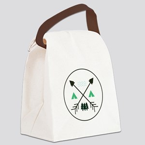 Camping Patch Canvas Lunch Bag