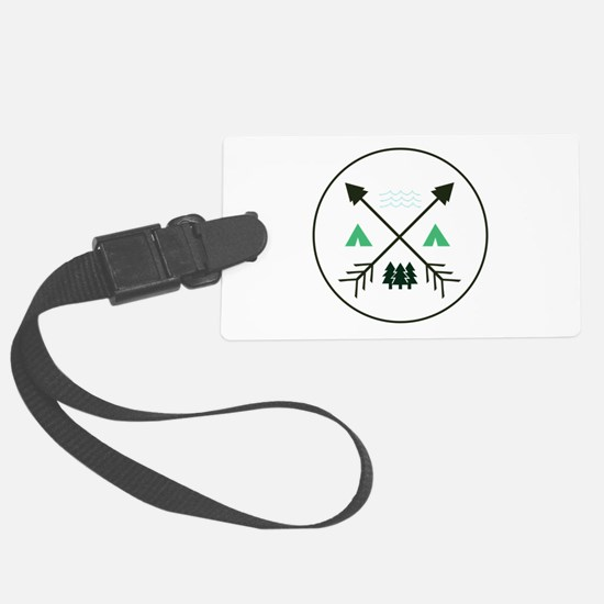 Camping Patch Luggage Tag