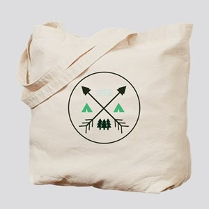 Camping Patch Tote Bag