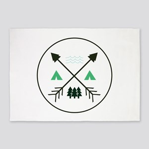 Camping Patch 5'x7'Area Rug