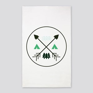 Camping Patch Area Rug
