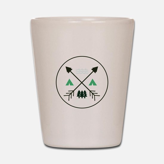 Camping Patch Shot Glass