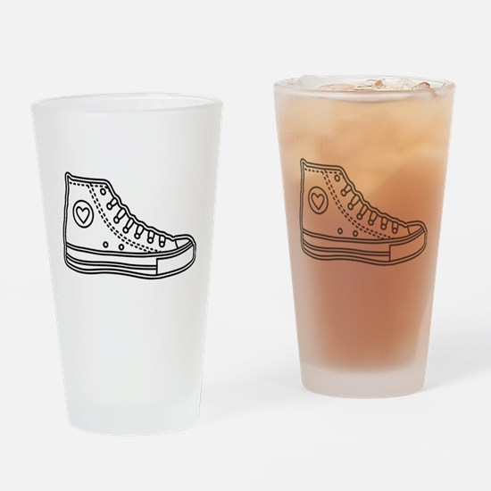 Chucks Drinking Glass