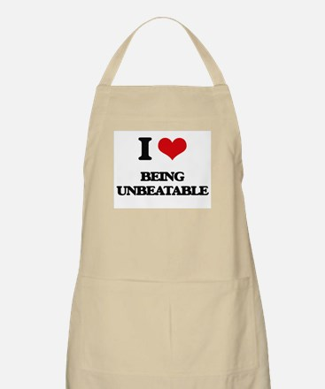 I love Being Unbeatable Apron