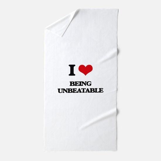 I love Being Unbeatable Beach Towel