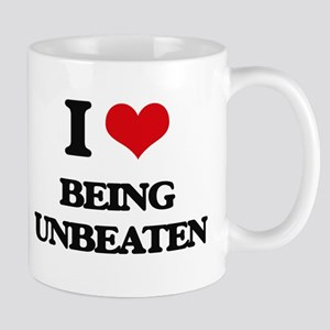 I love Being Unbeaten Mugs