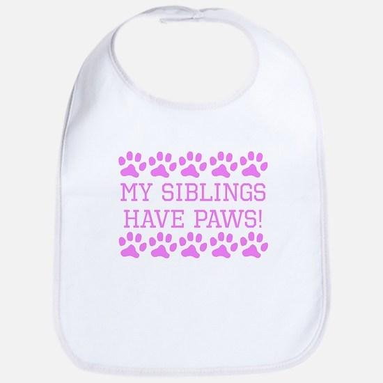 My Siblings Have Paws Bib