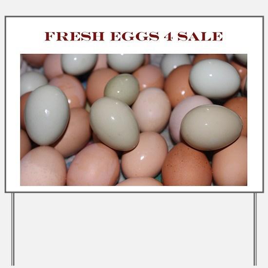 Fresh Eggs 4 Sale Yard Sign