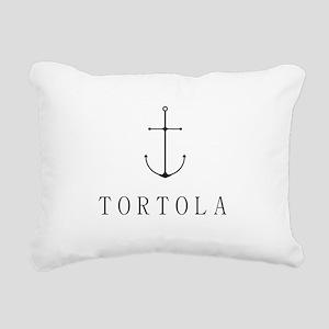 Tortola Sailing Anchor Rectangular Canvas Pillow