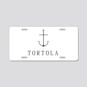 Tortola Sailing Anchor Aluminum License Plate